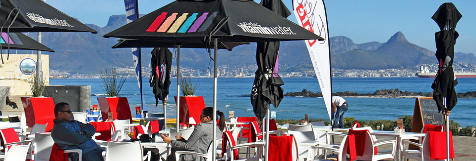 View of the Ocean and Table Mountain from a Restaurant